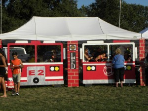 The Lakeport Fire Department won the Best Decorated Booth award.