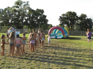 Many children enjoyed the Slip 'n Slide.